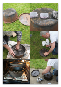 Steps to season your Dutch oven