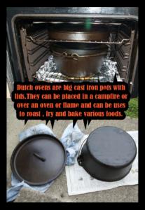 Seasoning the Dutch oven
