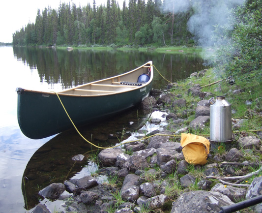 Camp Cooking in the wild with a Kelly Kettle