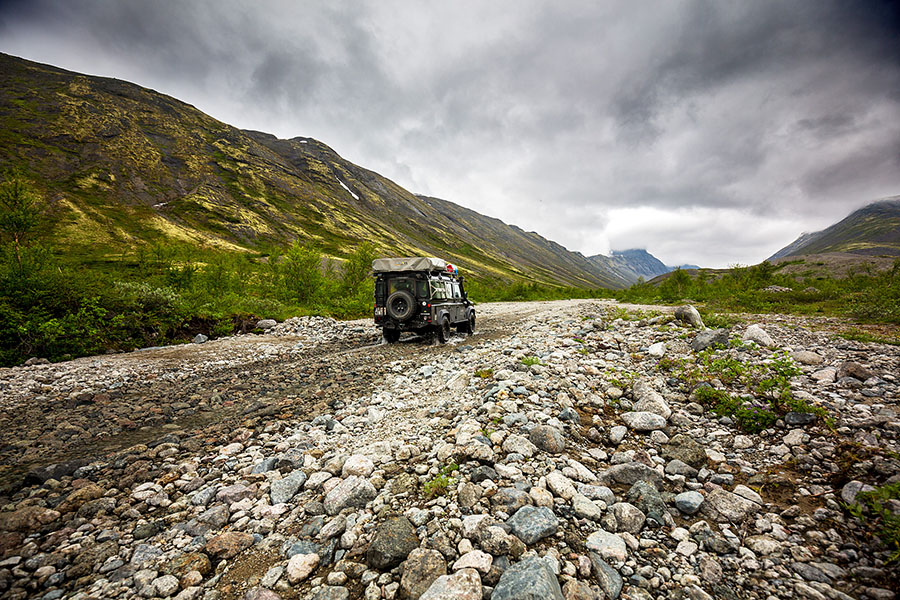 The Land Rover proved flawless on the12,000 km trip.