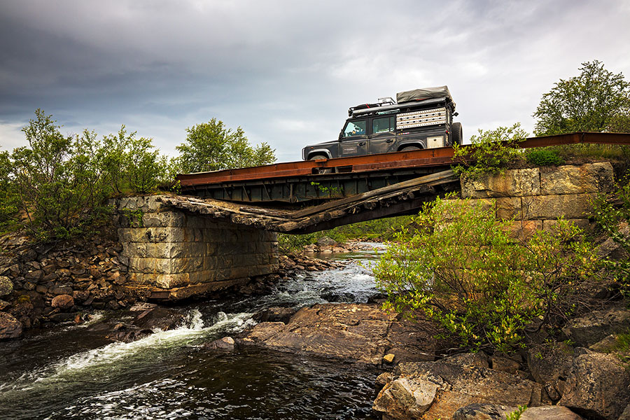 A remote bridge crossing in Russia