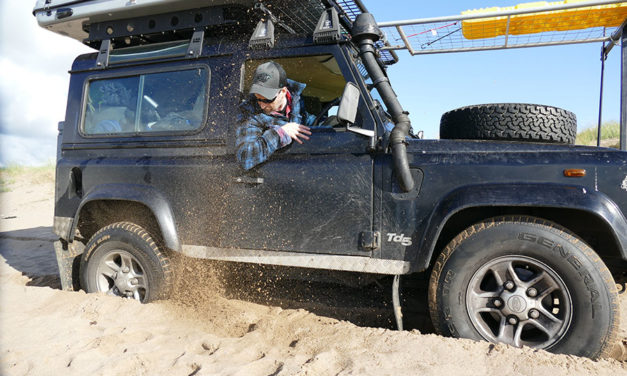 How to recover a vehicle that is stuck in sand or mud