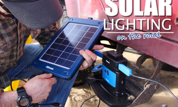 Solar Lighting – on the road portable solar power panels