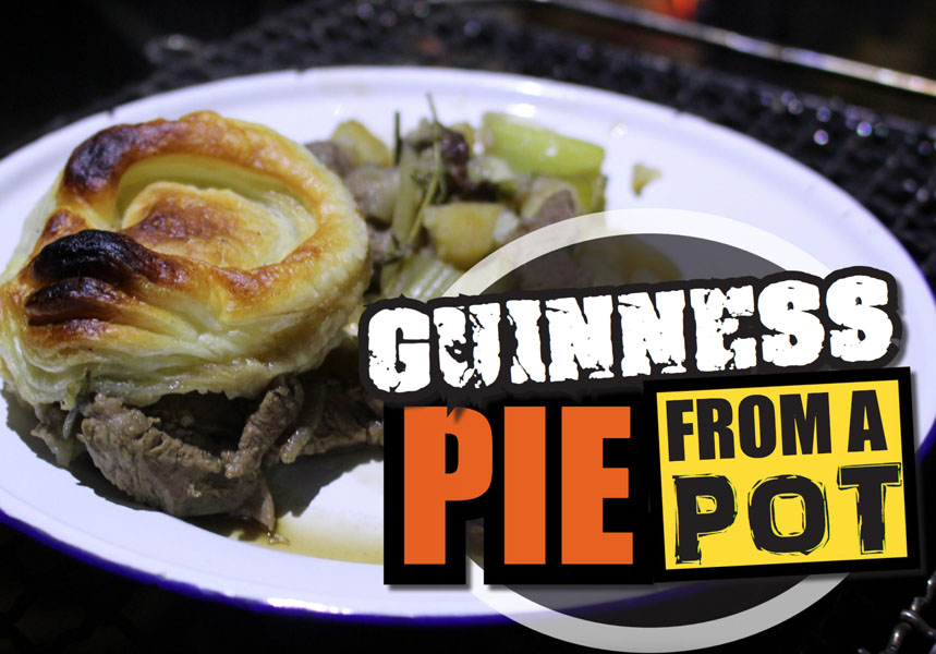 Guinness Pie from a Pot - Camp Cooking Recept