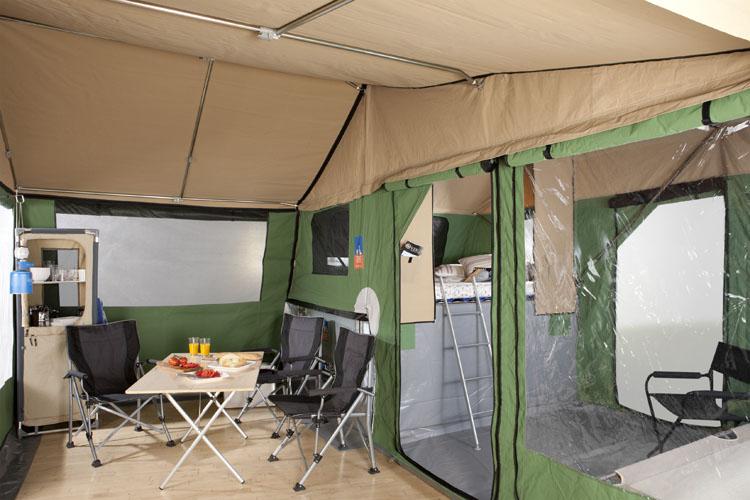3dog camping innenraum traildog und anbauzelt. Black Bedroom Furniture Sets. Home Design Ideas