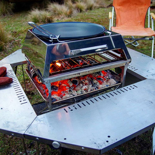 You can also get a hot plate with the Snowpeak oven