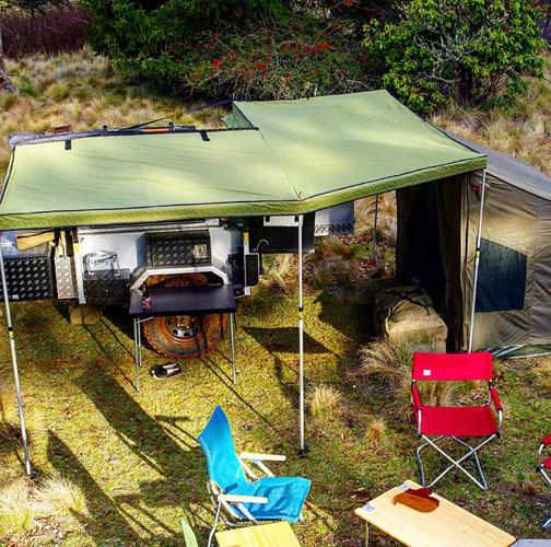 The DOT camper trailer all set up
