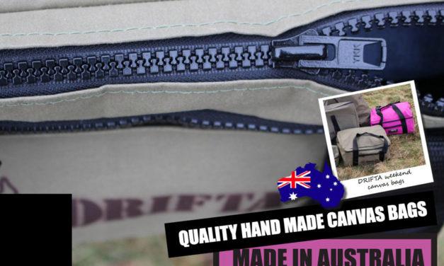 Kalitatea Hand Made Canvas Bags-Made in Australia arabera Drifta