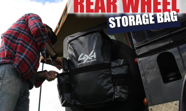 Camping reservewieltas van Euro4x4Parts - Tas gemonteerd op reservewiel