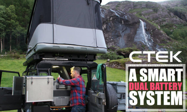 The CTEK 140A OFF ROAD CHARGING SYSTEM –   D250SA 20A charger with  SMARTPASS 120 power management
