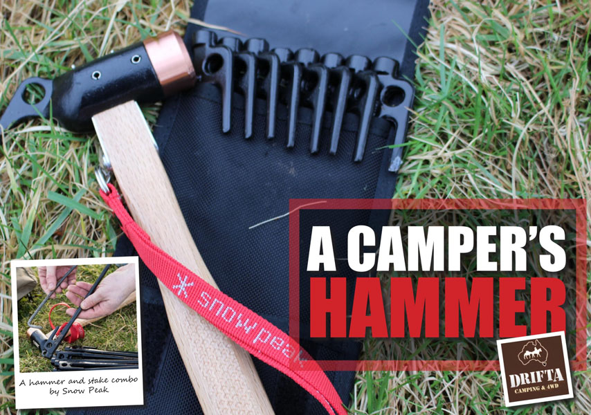 A Camper's Hammer - Snowpeak Copper Head Hammer