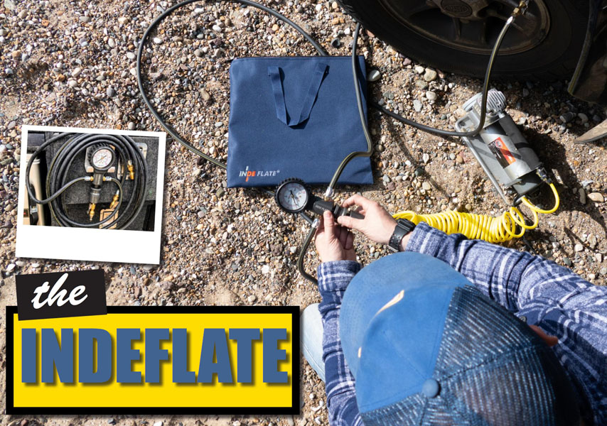 The Indeflate an easy way to inflate and deflate your tyres