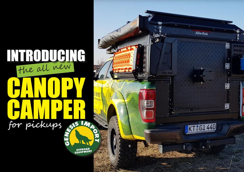 Introducing the all new Canopy Camper – for pickups.