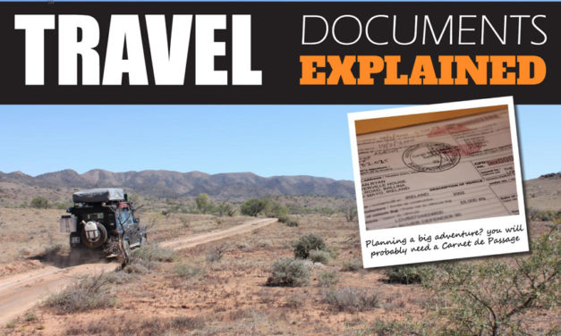 Travel Documents Explained- What is a Carnet de Passage