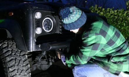Winch Bumper fir Land Rover Defender vu Biermach